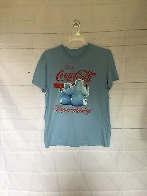 New Coca-Cola Coke Polar Bear T-Shirt Size XL -Christmas Happy Holidays