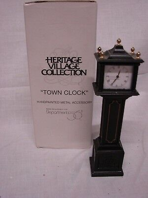 Dept 56 Heritage Village Collection  Accessories - Town Clock