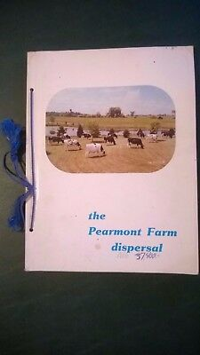 Pearmont Farm World Record Holstein Dispersal Sale Catalog 1982 Wisconsin
