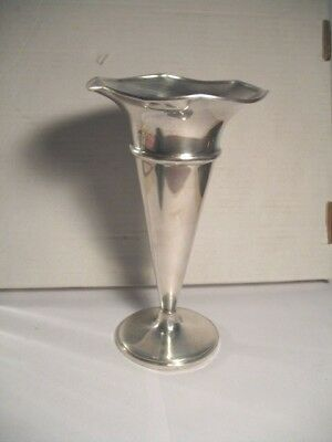 """Vintage Fisher #638 Weighted Sterling Silver Trumpet Vase 7 1/2"""" Tall"""