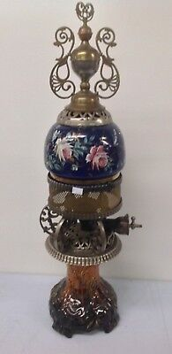Extremely Rare late 1800's Majolica Gas parlor stove