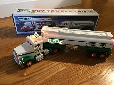 Hess 1990 Toy Fire Truck Dual Sound Switch Back-up Working Lights with Box Used