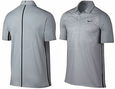 Nike 803206-012 Tiger Woods $95 TW Velocity Max Fade Print Polo Shirt gray sz L