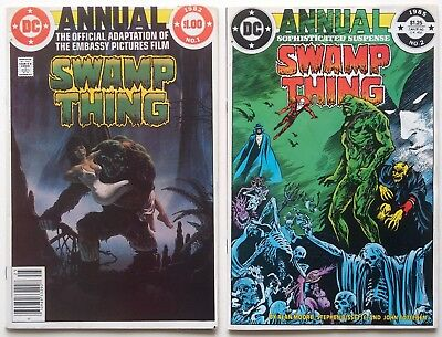 Swamp Thing Annual #1 & #2 LOT (1985, DC) - 1st Justice League Dark - Alan Moore