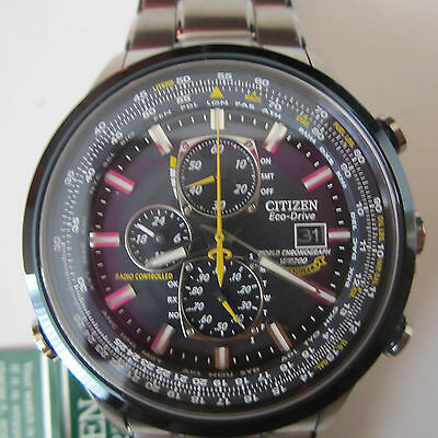 Citizen Eco-Drive Men's Watch Blue Angels Skyhawk A.t All S/s Japan At8020-54L