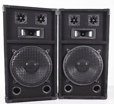 2x DJ SPEAKERS 180 Watts RMS Party Small Function BBQ or for Listening to Music