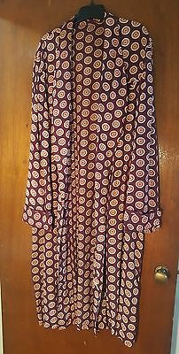 Vtg 1930s-40s Art Deco Rayon Print Dressing Gown/Robe  Macy's Mens Store Size L