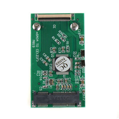 "Mini mSATA PCI-E 1.8"" SSD To 40 Pin ZIF CE Cable Adapter Converter Card"