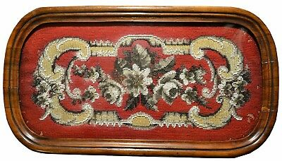 BEAUTIFUL 19th CENTURY VICTORIAN BEADWORK embroidery of great-grandmother