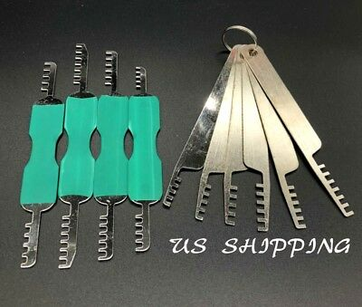 10Pcs-Practice-Picking-Traing-Tools-Set-Cutaway-Invisible-Key-Extractor-Remover