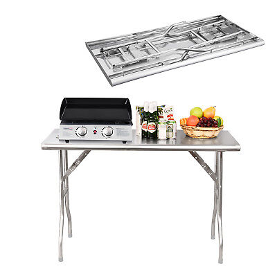 Royal Gourmet Stainless Steel Outdoor BBQ Folding Work Table Picnic Dinner