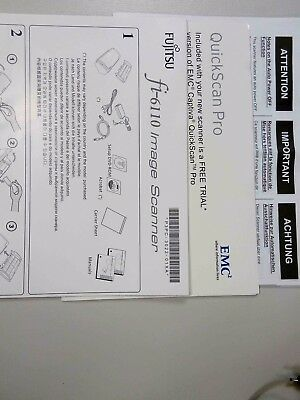 Fujitsu Image Scanner fi-6110 Assorted Manuals + Disks x 2 Setup and Drivers/App