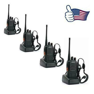 4 Piece Baofeng BF-888S UHF 400-470MHz 16CH USB Two-way Ham Radio +Free Earphone