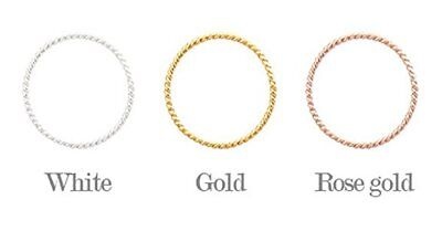 4XTYLE [Silver] Whipping Twist Ring Rose gold size 7 / Accessories / Ring / Jewe