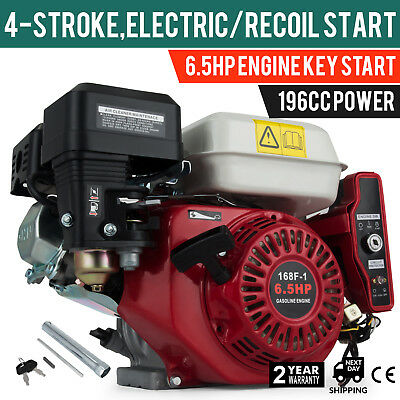 6.5HP Petrol Engine Motor Horizontal Shaft Electric Recoil Air-Cooled 3600rpm