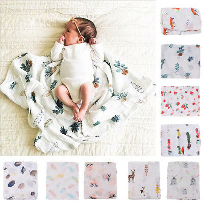 Soft Muslin Cotton Newborn Infant Swaddle Baby Blanket Parisarc Wrap Towel