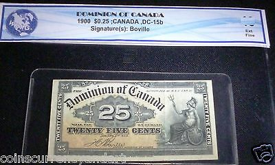 1900  SHINPLASTER 25¢ Dominion of CANADA -Twenty Five Cents