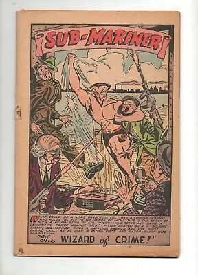 Sub-Mariner Comics #19 Marvel 1946 Cover-less Complete! NICE PAGES TIGHT STAPLES