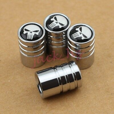 4PCS Car Tyre Wheel Tire Valve Stem Caps Pirate Skull Style Dust Hat Accessories