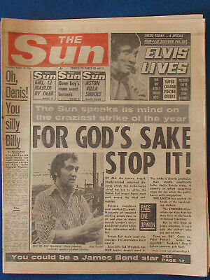 Elvis Presley - The Sun 10/8/1978 - Cover Image & 4 page Article inside
