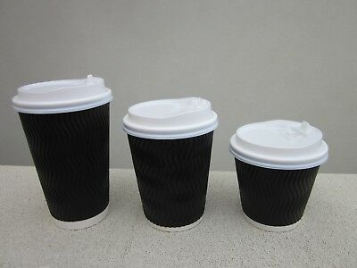 disposable triple ripple coffee cups and lids 12oz takeaway paper cups