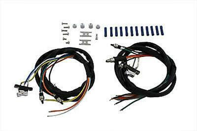 Handlebar Wiring Harness and Chrome Switch Assembly For Harley-Davidson