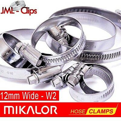 Genuine MIKALOR W2 | Stainless Steel | Jubilee Style | Clip | Wormdrive | Clamp