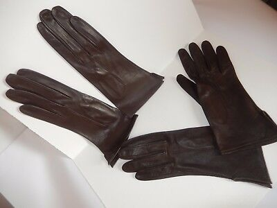 LOTTO GUANTI DONNA PELLE VINTAGE MARRONE leather gloves brown