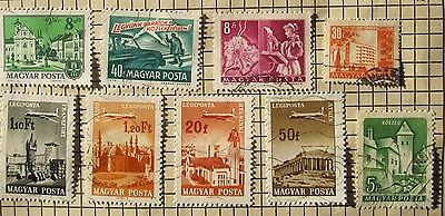 27  Hungary ' Planes / Trains / Buses '  Stamps From Old Album
