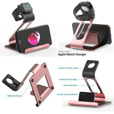iPhone And Apple Watch Stand Aluminum Sturdy Dock Charging Station iWatch Holder