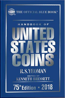 New Handbook of US Coins 2018 Official Blue Book Edition Hardcover (Cloth) SN