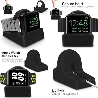 Apple Watch Stand Black iWatch Series 1 2 3 Secure Holder Sturdy Compact Dock