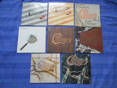 8 x CHICAGO: XI, Feeling Of, V, If you leave me now, 16, X, 17, 13 - Sammlung LP