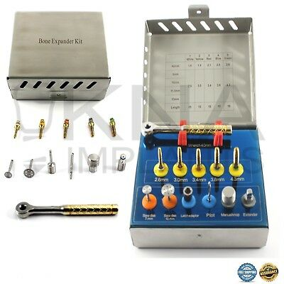 Dental Bone Expander Sinus Lift Kit 12 Pcs, Dental Implant Kit with Saw Disk