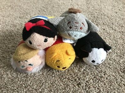 Disney Posh Paws Tsum Tsum Winnie Pooh Snow White Etc Bundle Genuine UK