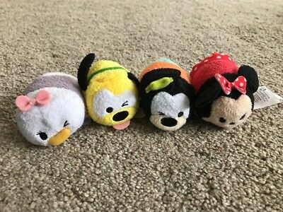 Disney Store Tsum Tsum Minnie Pluto Daisy Goofy Bundle Genuine UK