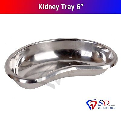 """Professional 6"""" Surgical Kidney Tray Dish Basin Stainless Steel Instrument NEW"""