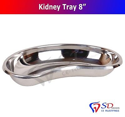 "Kidney Bowl Tray 8"" Basin Dental and Surgical Instrument Stainless Steel New CE"