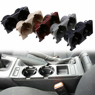 Car Center Console Dual Water Cup Holder for BMW E46 Sedan Wagon M3 97-06 Grey