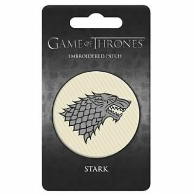 """Game Of Thrones 3"""" Embroidered IRON-ON Patch House STARK"""