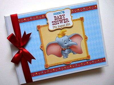 Disney Dumbo Boy/girl /first/1St Birthday/baby Shower Guest Book Any Design
