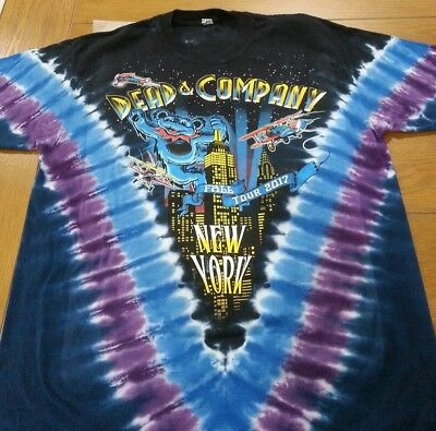 DEAD & AND COMPANY LIQUID BLUE MSG EVENT TIE DYE T SHIRT SIZE LG LARGE poster