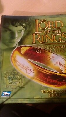 LORD OF THE RINGS FELLOWSHIP TCG COMPLETE  SET+ promos IN ORIGINAL TOPPS BINDERS