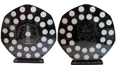 50p pence coin garden album kew mint stand olympic 2012 50p display set of 2