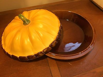 Pumpkin Pie Decorative Pie Plate with Lid & Pumpkin Pie Plate/Server with Stem Handle Lid \u2022 $28.00 - PicClick
