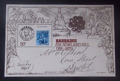 Barbados-1979-MS620-Death of Sir Rowland Hill Minisheet-MNH