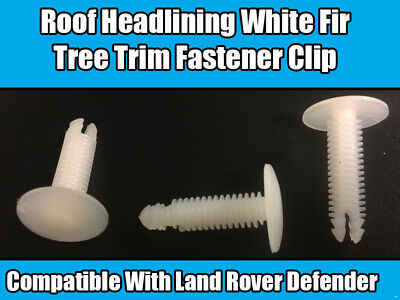 50x Clips For Land Rover Defender Roof Lining White Fir Tree Fastener Clip