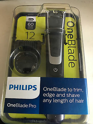 Philips One Blade Pro Qp6510/25 12 Length Settings 60 Minute Run Time Bnib