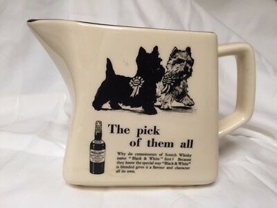Vintage B & W Scotch Whiskey Pitcher with Westie and Scotty, MINT Condition!