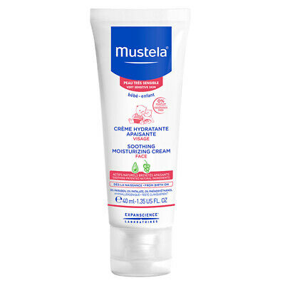 Mustela Soothing Moisturising Face Cream Fragrance Free 40ml Online Only